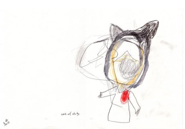 call of duty - Zeichnung - Kerstin Müller
