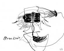 Brain drain – Kerstin Müller Zeichnung
