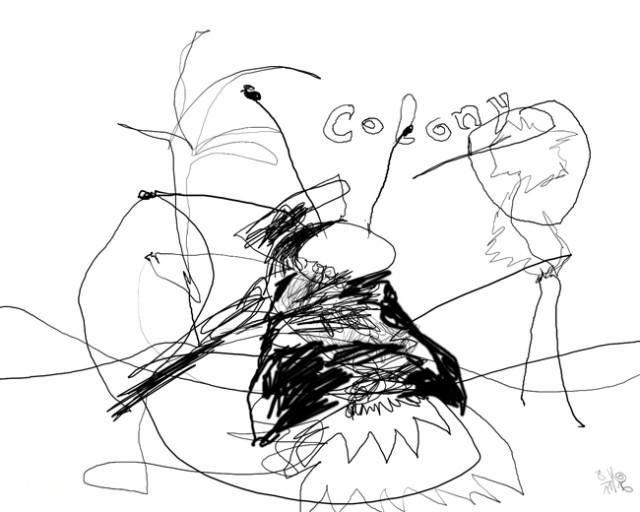 colony — Kerstin Müller digitale Zeichenkunst