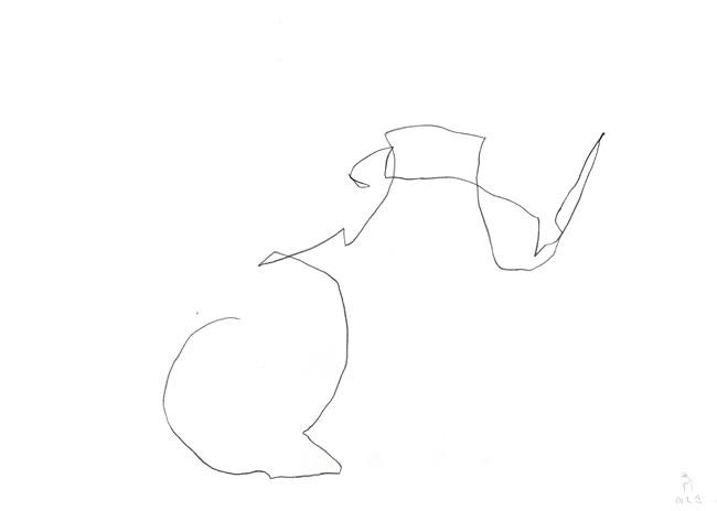 Let´s start — zeichnung kunst Kerstin Mer
