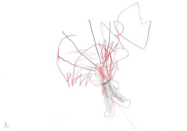 bubble time — zeichnung kunst Kerstin Mer