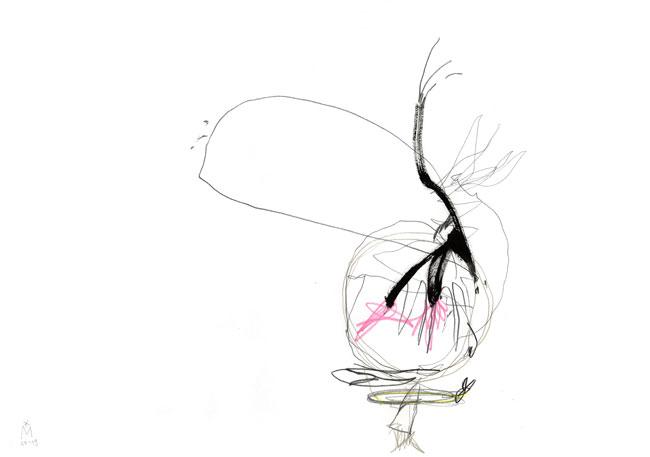 power — zeichnung kunst Kerstin Mer