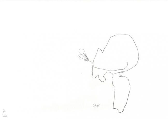joker — Zeichnung Kunst Kerstin Mer