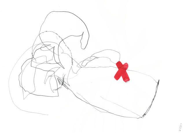 wounded — anders — Kerstin Mer Zeichenkunst