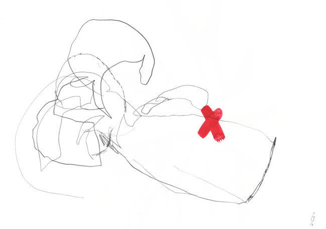 wounded — Kerstin Mer Zeichenkunst
