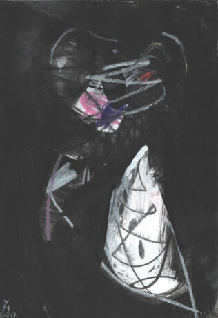 Geist Serie dunkle Bilder — Kunst Kerstin Mer