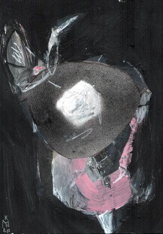 Rabbit (Serie obskure Bilder) – Kerstin Mer Zeichnung