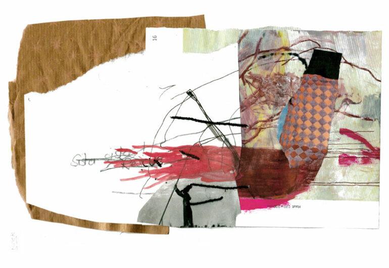 Collage aus underschiedlichen Papieren